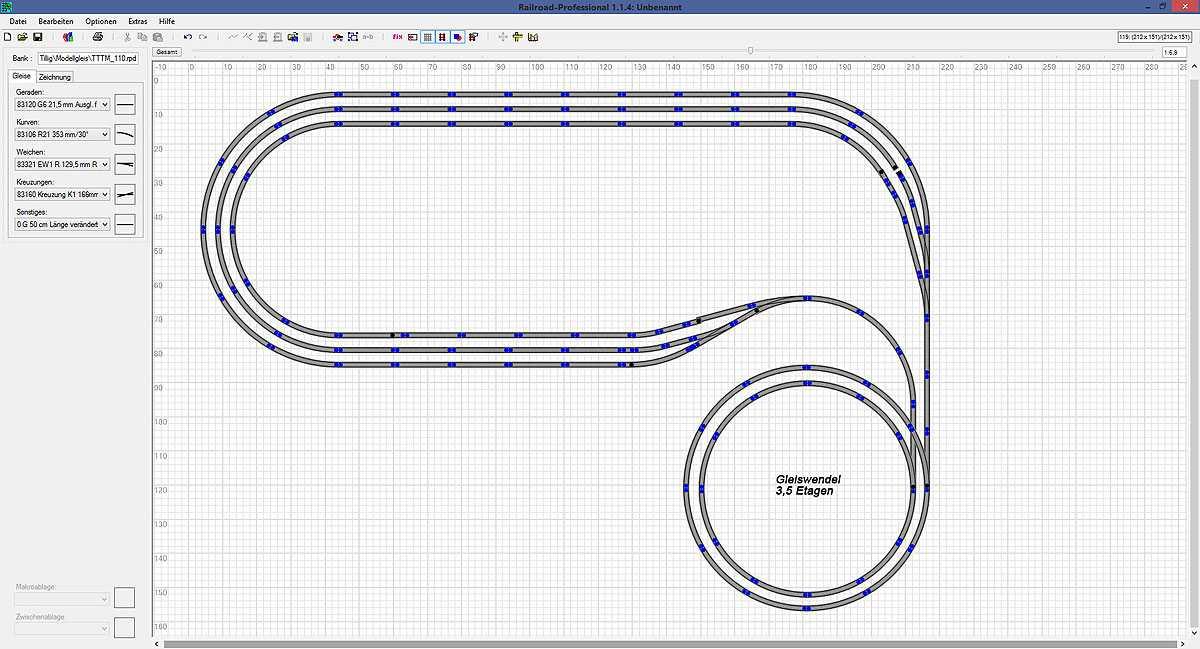 lutz n ther mit modellbahntipps entwurf eines gleisplanes. Black Bedroom Furniture Sets. Home Design Ideas